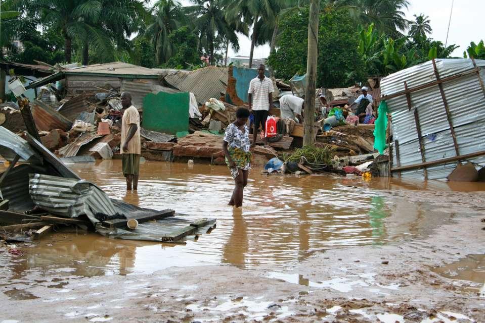 Displaced residents of Adabraka